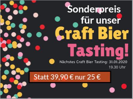 Sonderpreis für das Craft Bier Tasting